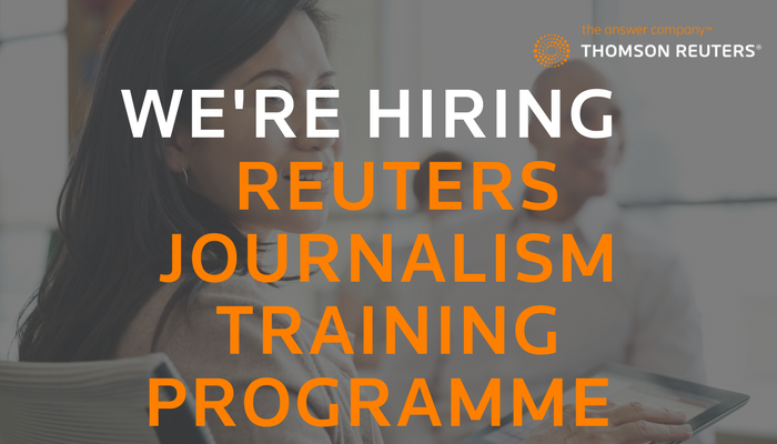 Thomson reuters journalism training programme 2019 (middle east.